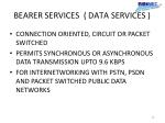 bearer services data services
