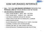 gsm air radio interface