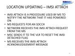 location updating imsi attach