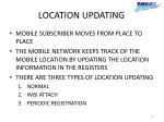 location updating