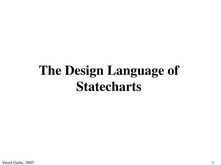 the design language of statecharts n.
