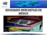 sociedades mercantiles en m xico
