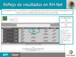 reflejo de resultados en rh net