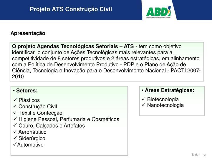 Projeto ats constru o civil