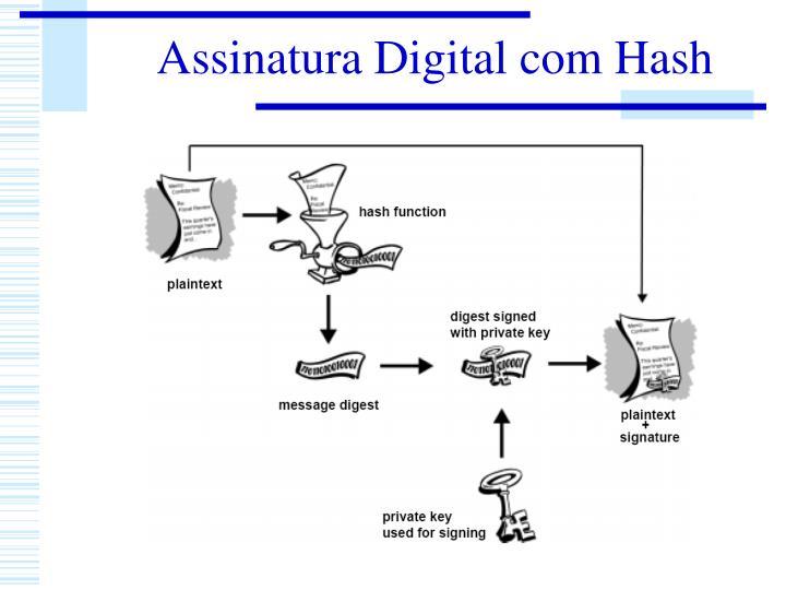 Assinatura Digital com Hash
