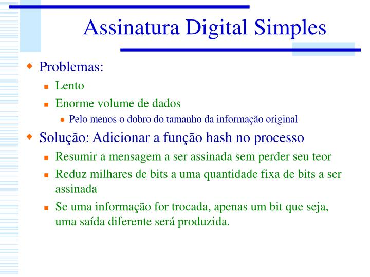 Assinatura Digital Simples