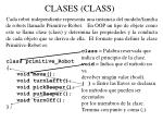 clases class