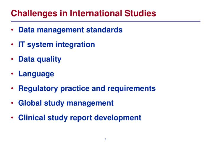 Challenges in international studies