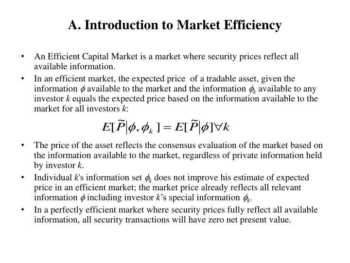 an introduction to the flaws of efficient market theory The sec's version of the efficient market theory and its impact on securities law liabilities marvin g pickholz edward b horahan iii i introduction.