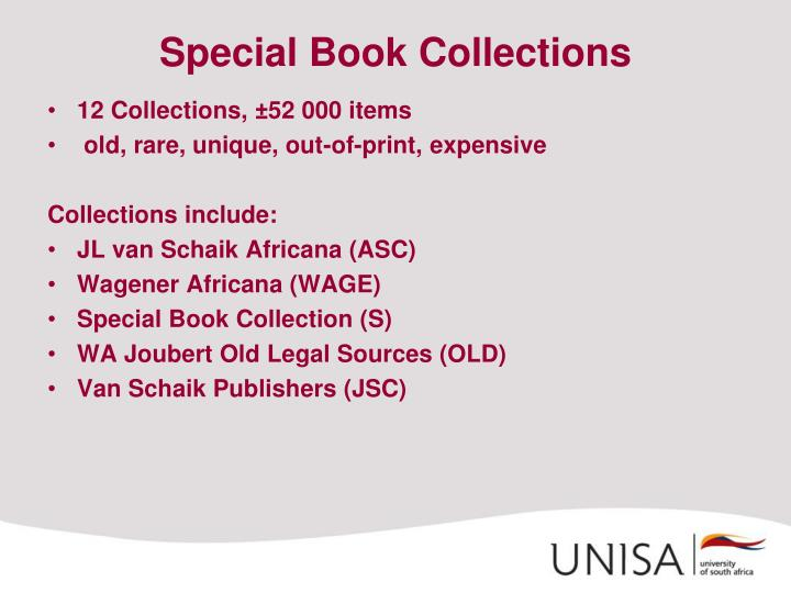 Special Book Collections