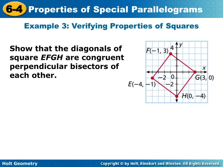Example 3: Verifying Properties of Squares