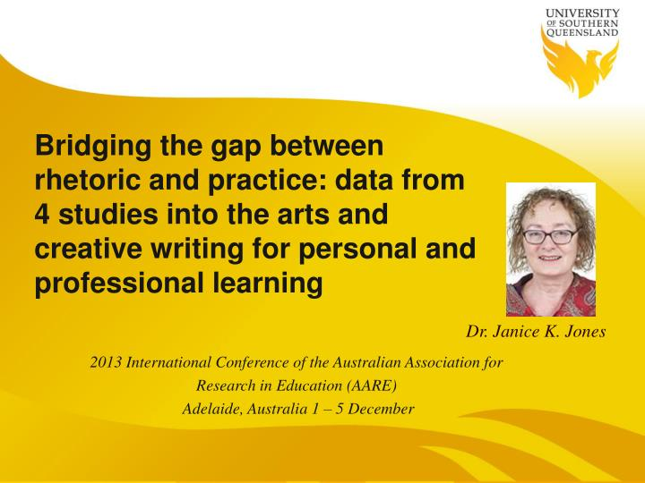 Bridging the gap between rhetoric and practice: data from 4 studies into the arts and creative writi...