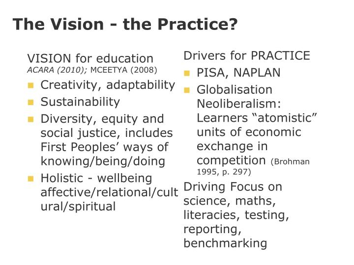 The Vision - the Practice?