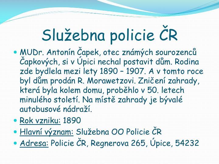 Služebna policie ČR