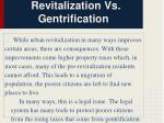 revitalization vs gentrification