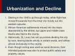 urbanization and decline
