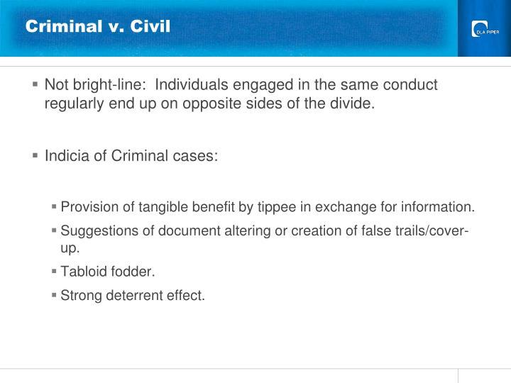 Criminal v. Civil