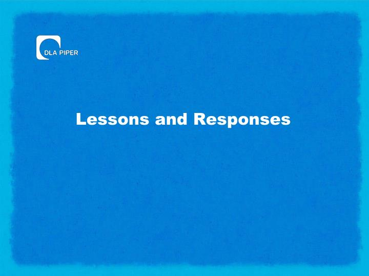 Lessons and Responses