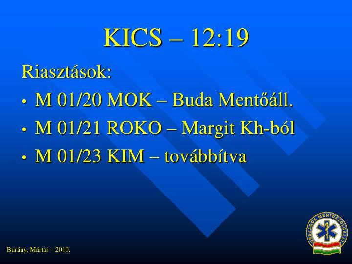 KICS – 12:19