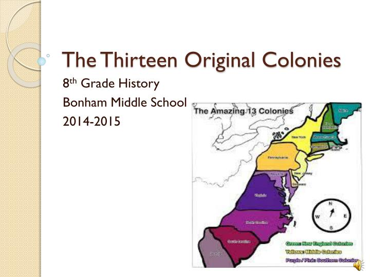 the thirteen original colonies n.