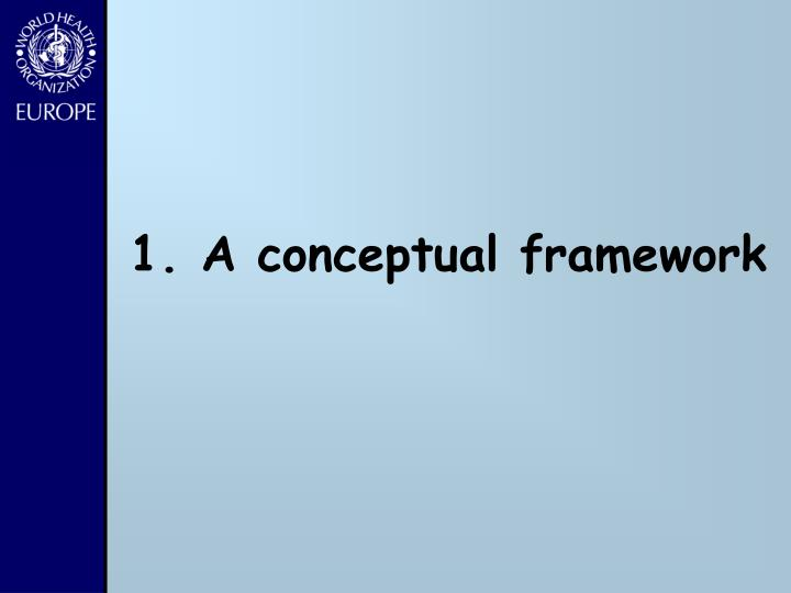 1. A conceptual framework