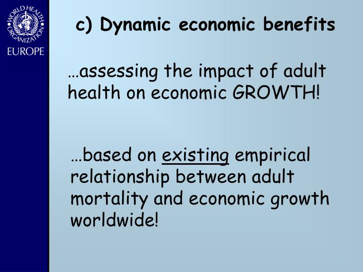c) Dynamic economic benefits