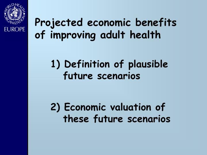 Projected economic benefits