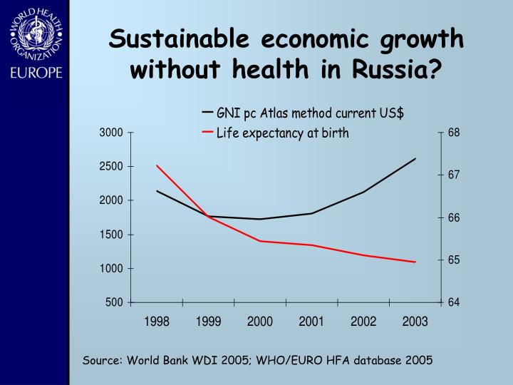 Sustainable economic growth without health in Russia?