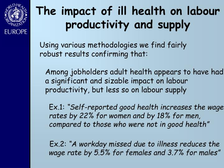 The impact of ill health on labour productivity and supply