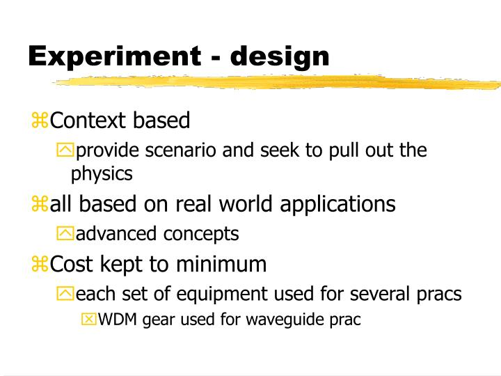Ppt queensland university of technology senior physics lab powerpoint presentation id 6991329 for Physics planning and design experiments