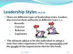 leadership styles 4 of 4