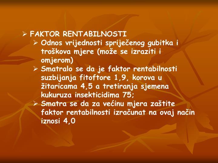 FAKTOR RENTABILNOSTI