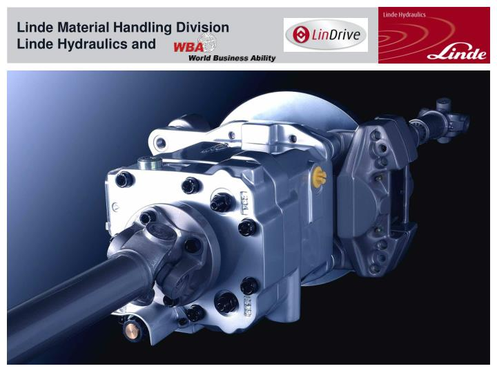 linde material handling division linde hydraulics and n.