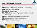 lpf association partners