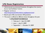 lpq exam registration