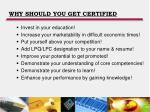 why should you get certified