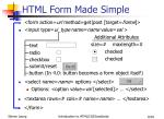 html form made simple