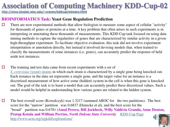 Association of Computing Machinery KDD-Cup-02