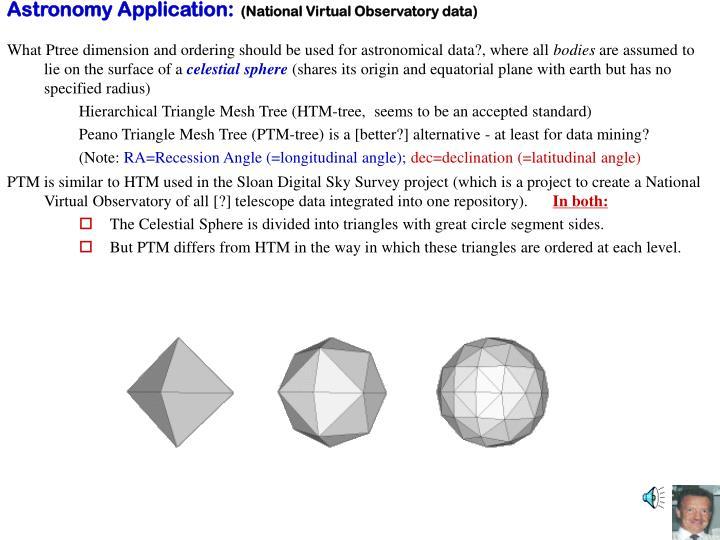 Astronomy Application: