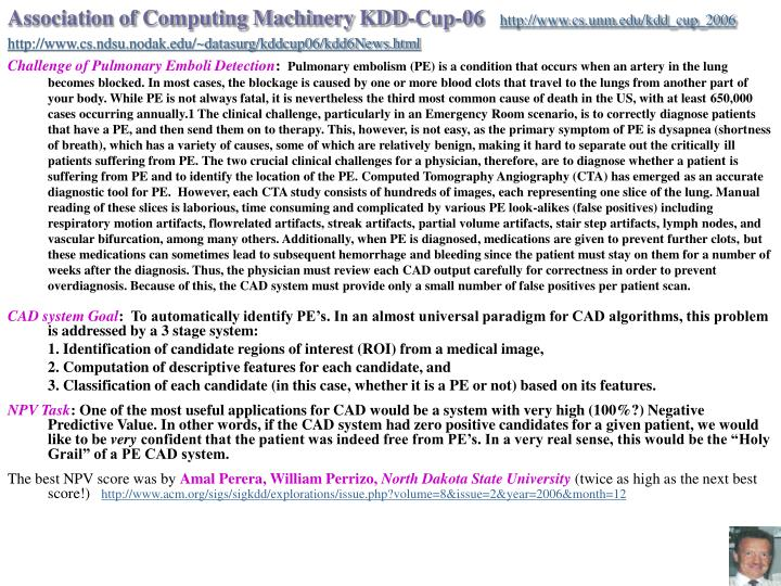 Association of Computing Machinery KDD-Cup-06
