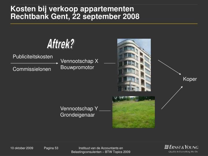 Kosten bij verkoop appartementen