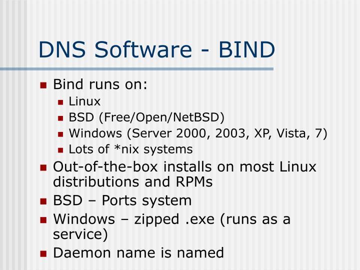 Dns software bind