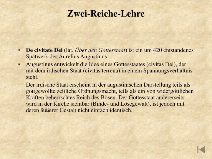 Zwei-Reiche-Lehre