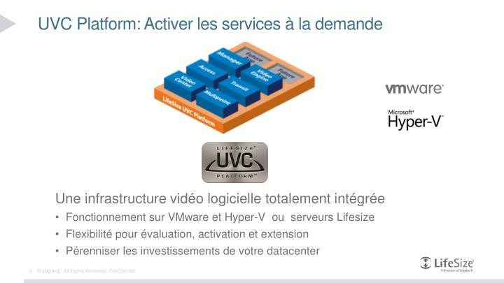Uvc platform activer les services la demande