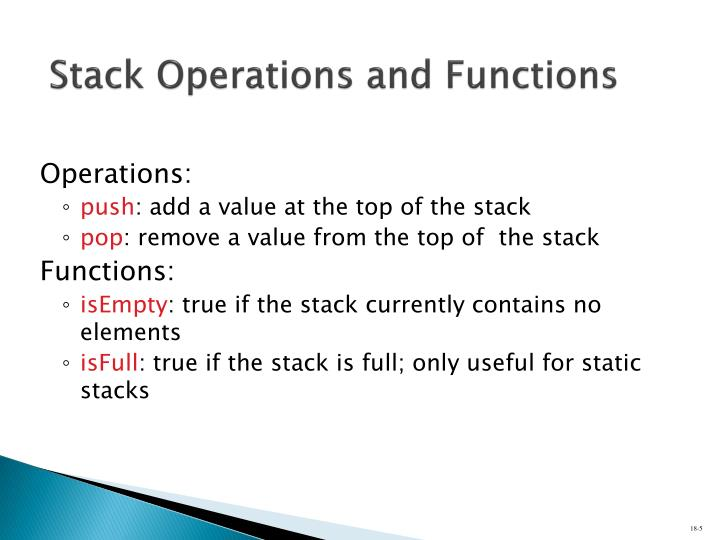 Stack Operations and Functions