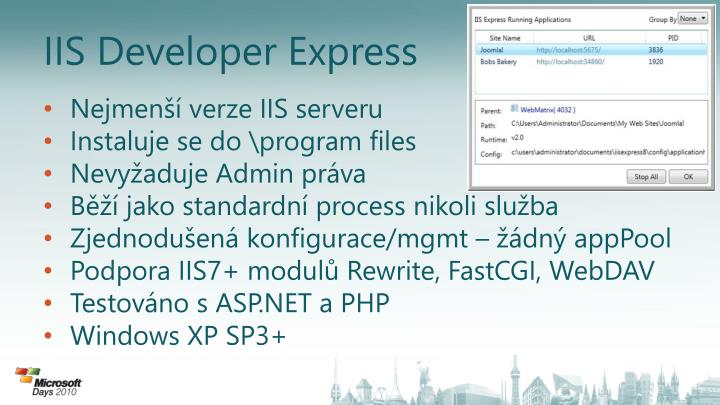 IIS Developer Express