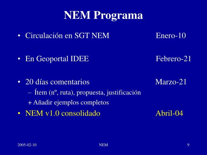 NEM Programa