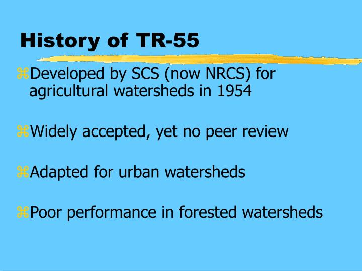 History of TR-55