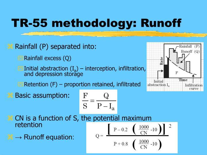 TR-55 methodology: Runoff