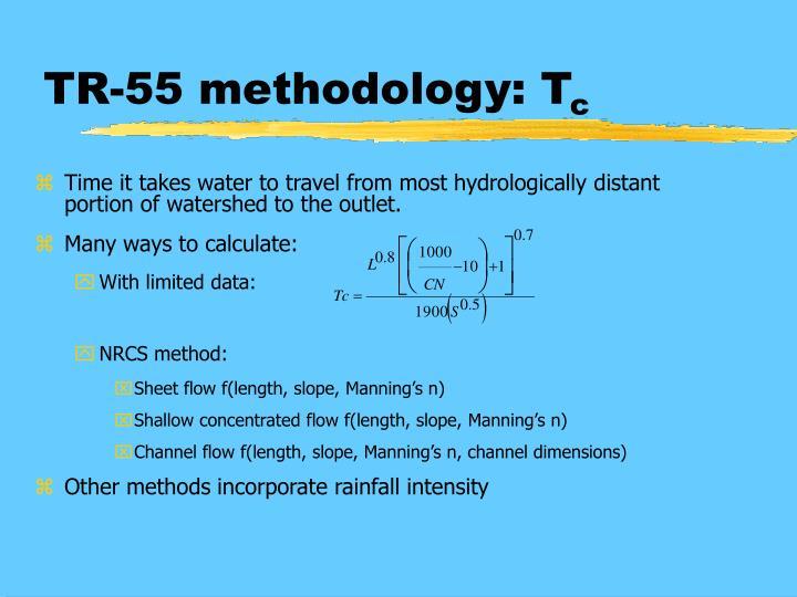TR-55 methodology: T